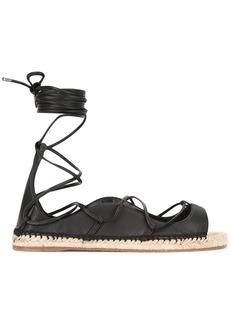 Dsquared2 lace-up espadrille sandals - Black