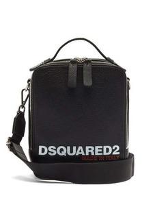 Dsquared2 Logo-debossed grained-leather cross-body bag