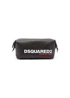 Dsquared2 Logo-debossed leather wash bag