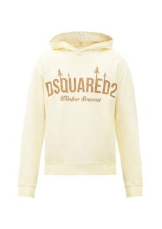 Dsquared2 Logo-print cotton-jersey hooded sweatshirt