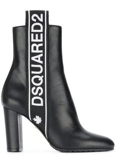 Dsquared2 logo stripe ankle boots - Black