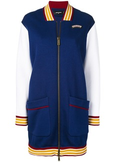 Dsquared2 long line bomber jacket - Blue