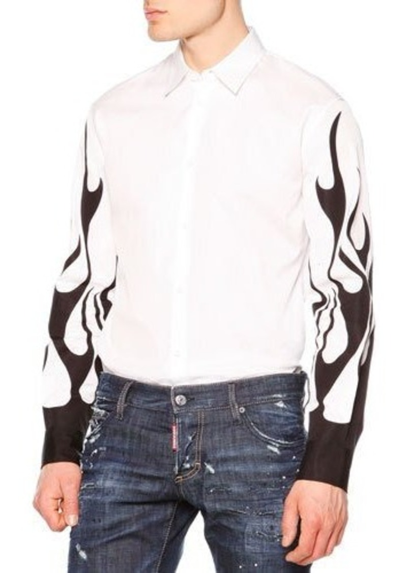 Dsquared2 Long-Sleeve Shirt with Flame Detail