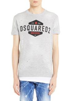 Dsquared2 Longline Logo Graphic T-Shirt