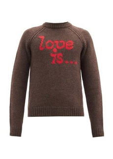 Dsquared2 Love Is-intarsia wool sweater