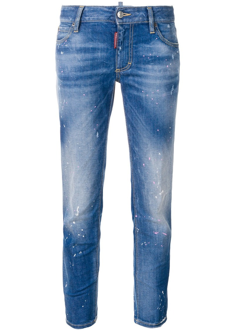 Dsquared2 medium-waist cropped Twiggy jeans