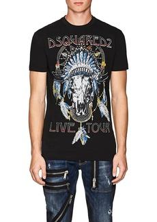 DSQUARED2 Men's Logo-Rock-Tour-Graphic Cotton T-Shirt