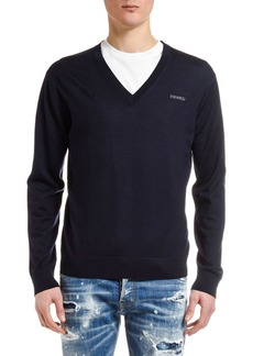 Dsquared2 Men's V-Neck Wool Sweater