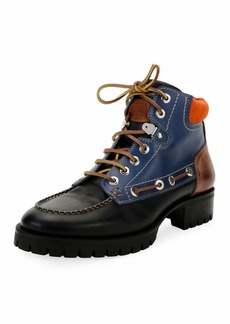 Dsquared2 Multicolor Lace-Up Ankle Boot