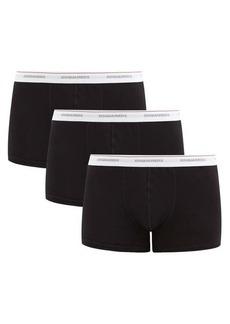 Dsquared2 Pack of three logo-jacquard cotton-blend trunks