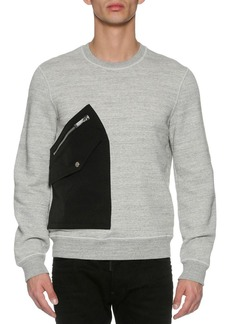 Dsquared2 Patch-Pocket Space-Dye Sweatshirt