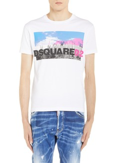 Dsquared2 Picture Logo Graphic T-Shirt