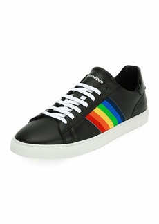 Dsquared2 Men's Rainbow-Stripe Low-Top Sneakers