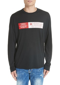 Dsquared2 Rated R Graphic Long Sleeve T-Shirt