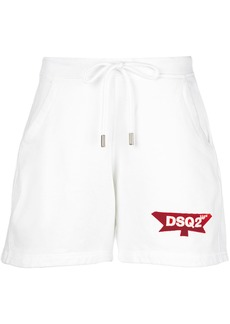 Dsquared2 relaxed-fit track shorts - White