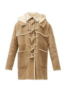 Dsquared2 Rope-toggle suede and shearling duffle coat