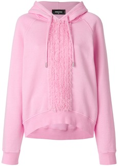 Dsquared2 ruffle detail hoodie - Pink & Purple