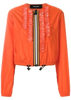 Dsquared2 ruffle-trimmed jacket - Yellow & Orange