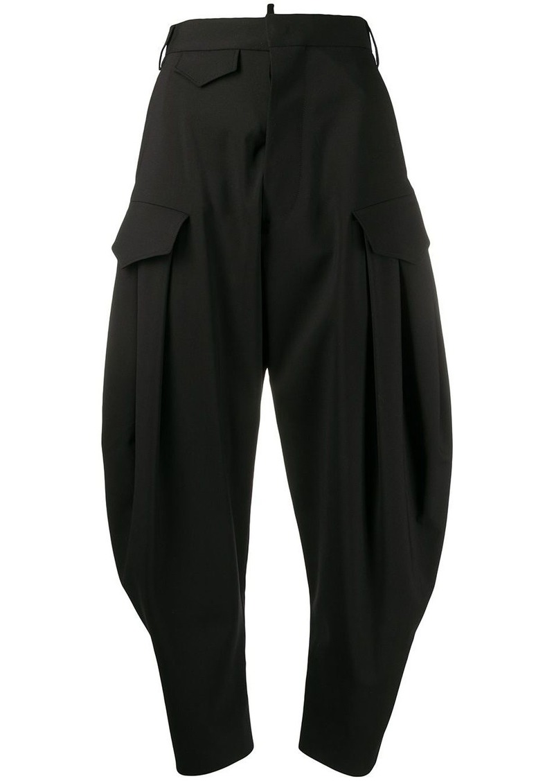 Dsquared2 high-rise cropped cocoon-leg trousers
