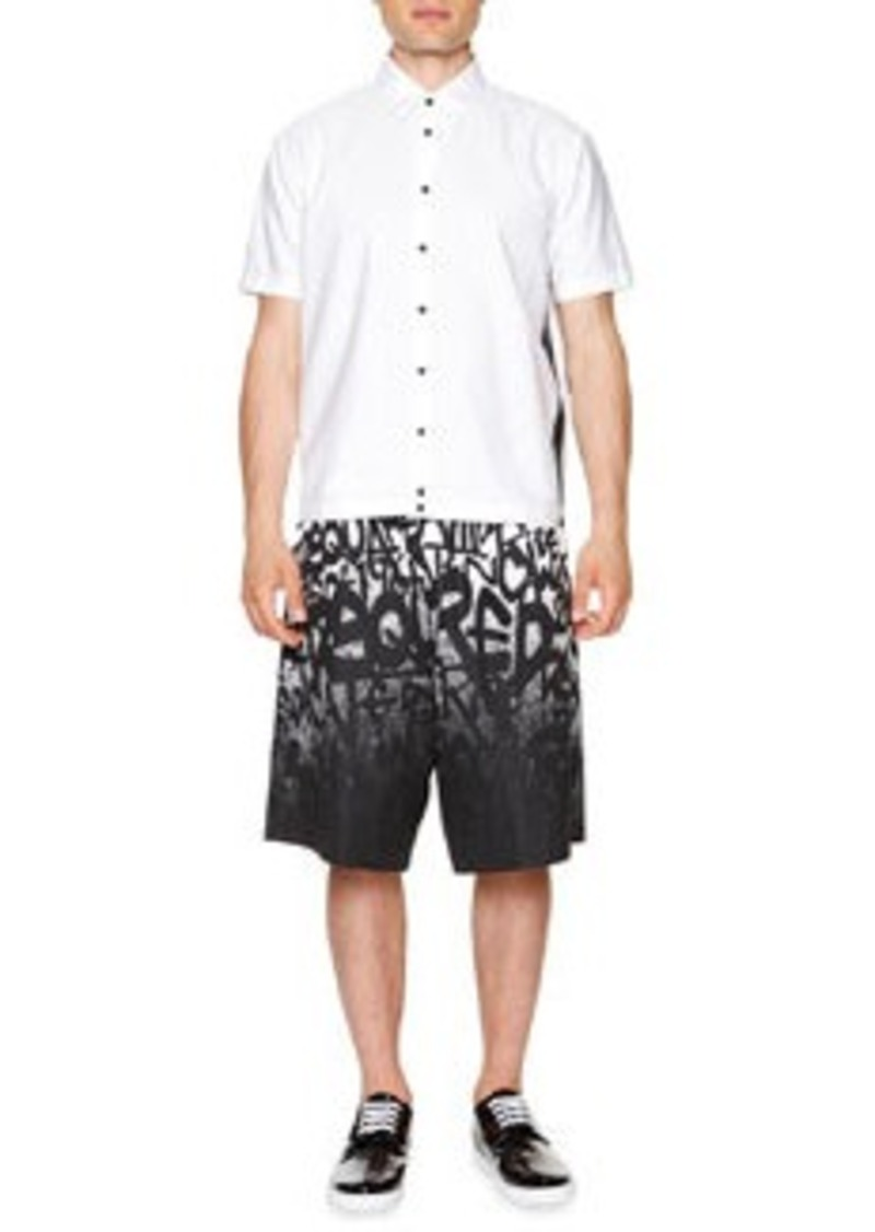 Dsquared2 Short-Sleeve Shirt with Mesh Panels