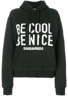 Dsquared2 slogan print hoodie - Black