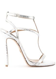 Dsquared2 snake embossed Evening Treasures sandals - Metallic