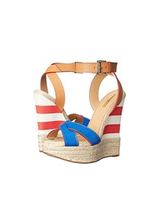 DSQUARED2 Striped Espadrille Wedge