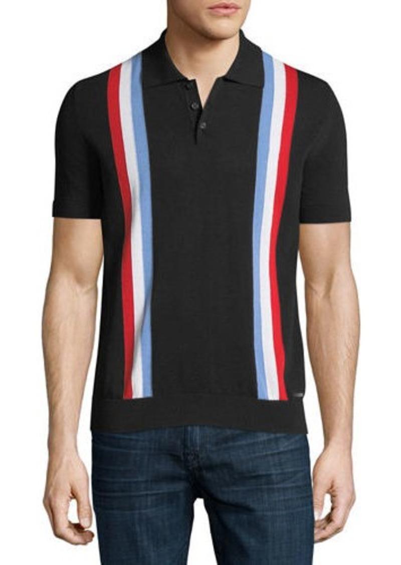 2cb611b3 Dsquared2 Striped Knit Polo Shirt | Casual Shirts