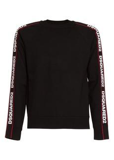Dsquared2 Tape Logo Sweater In Black