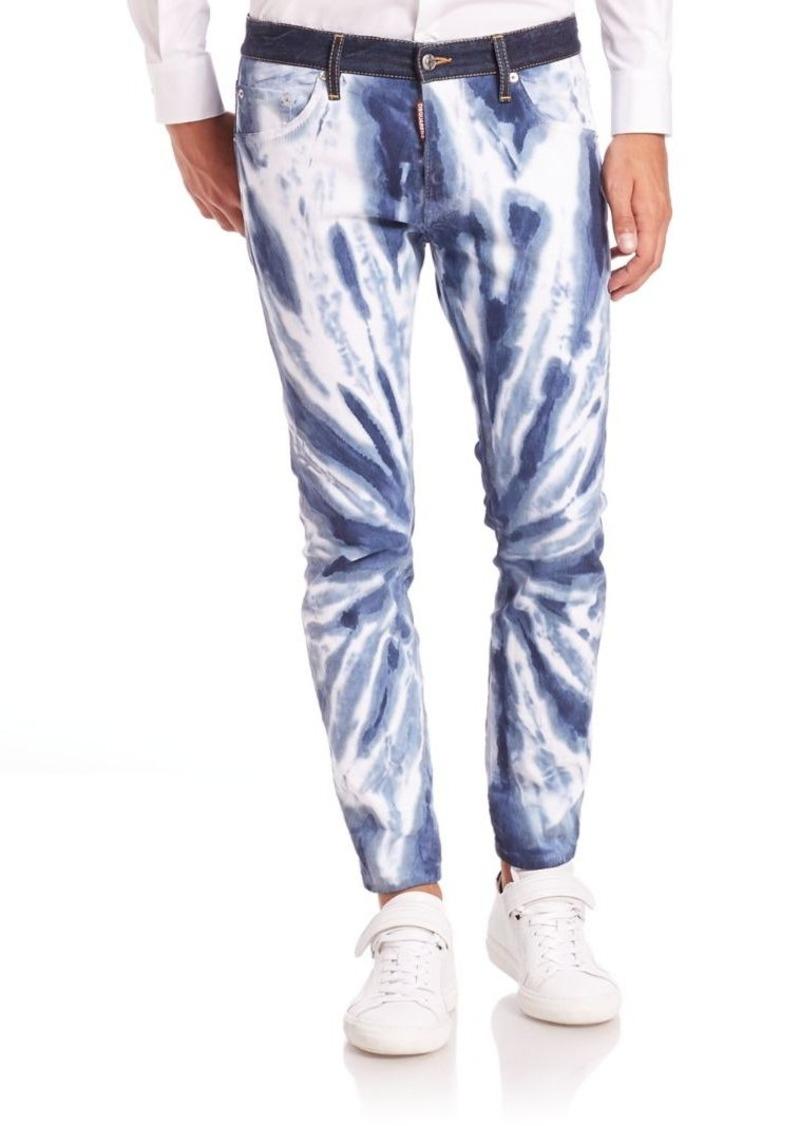 DSQUARED2 Tie Dye Skinny Jeans