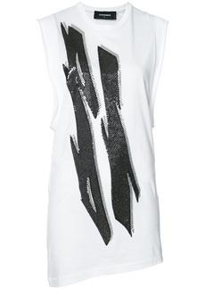 Dsquared2 Tiger Flash sequin T-shirt dress - White