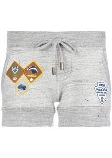 Dsquared2 track shorts with patch appliqué - Grey
