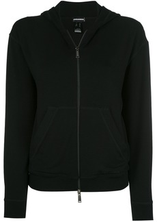Dsquared2 velvet zipped hoodie - Black