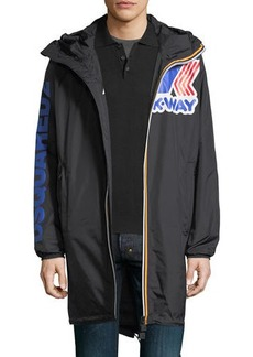 Dsquared2 x K-Way® Long Reversible Nylon Packable Jacket