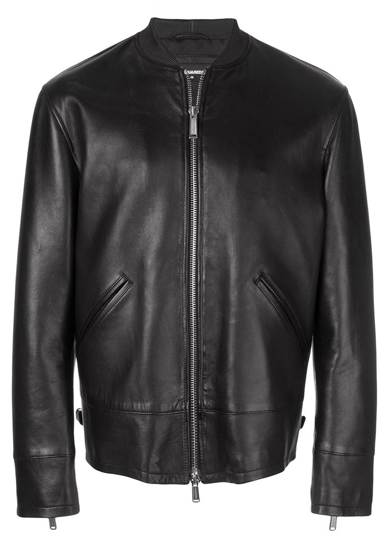 Dsquared2 zipped leather jacket
