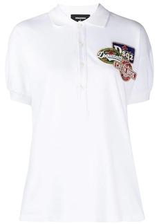 Dsquared2 embellished logo patch polo shirt