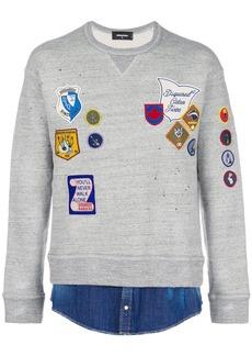 Dsquared2 embroidered badge sweatshirt
