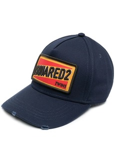 Dsquared2 embroidered logo-patch six-panel cap