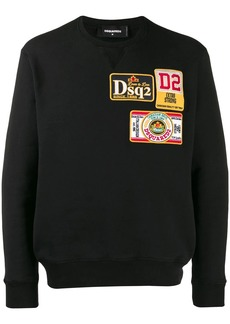 Dsquared2 embroidered logo patch sweatshirt