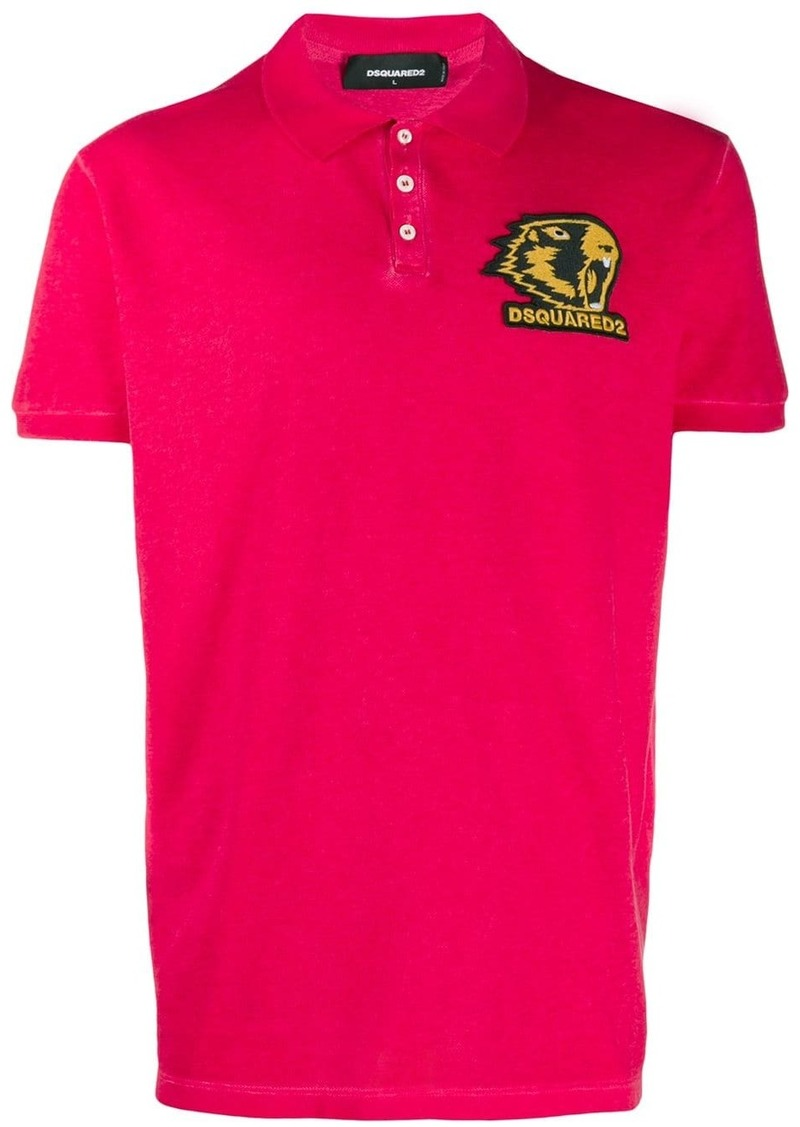 Dsquared2 embroidered polo shirt