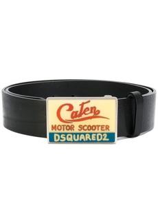Dsquared2 enamelled buckle belt