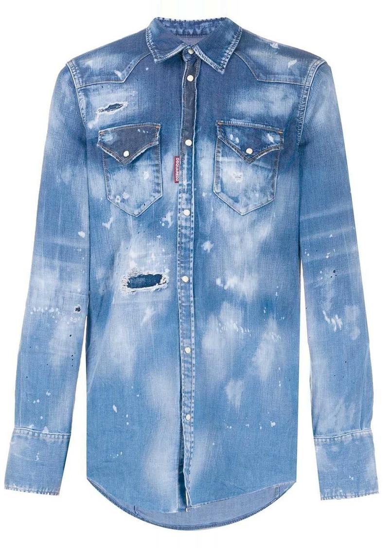 Dsquared2 faded denim shirt