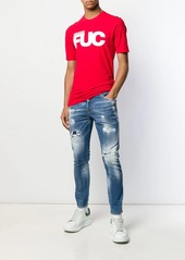 Dsquared2 faded effect jeans