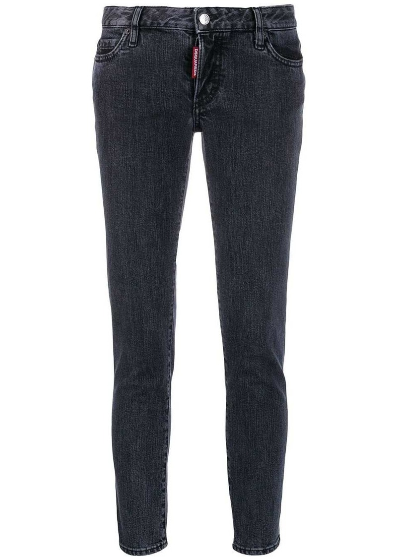 Dsquared2 faded skinny cropped jeans