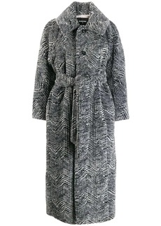 Dsquared2 faux fur belted coat