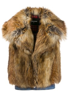 Dsquared2 faux fur vest