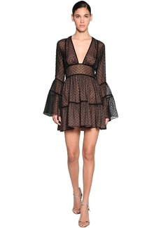 Dsquared2 Fil Coupè Chiffon Mini Dress