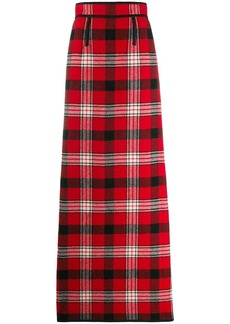 Dsquared2 flannel checked long skirt