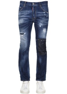 Dsquared2 Cropped Worked Slash Denim Jeans