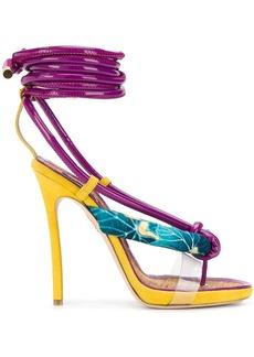 Dsquared2 flip flop-strap ankle wrap sandals